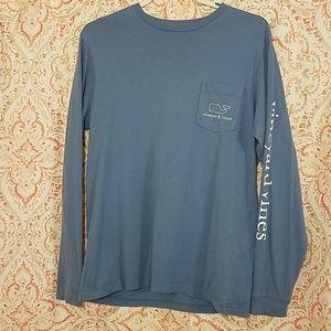 Blue long sleeved vineyard vines shirt women's sma